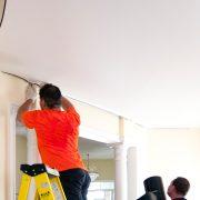 Įtempiamų - pakabinamų lubų montavimas